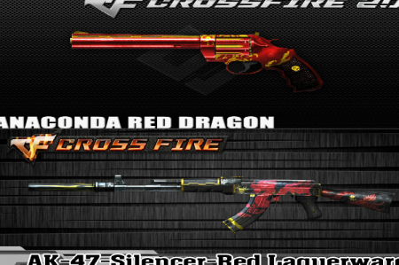 Промо-код для CrossFire 2017 на Anaconda Red Dragon и AK-47 Silencer-Red Laquerware